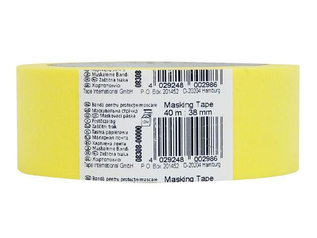 Taśma maskująca 38mmx40m żółta