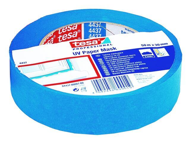 Taśma maskująca 30mmx50m na zewnątrz (do 6 tygodni) niebieska Tesa Tape