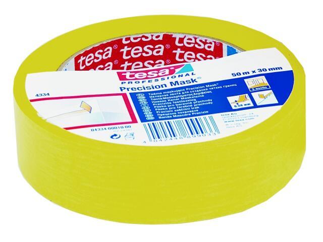 Taśma maskująca precision 30mmx50m żółta Tesa Tape
