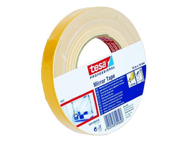 Taśma dwustronna do montażu luster 19mmx10m biała pianka Tesa Tape