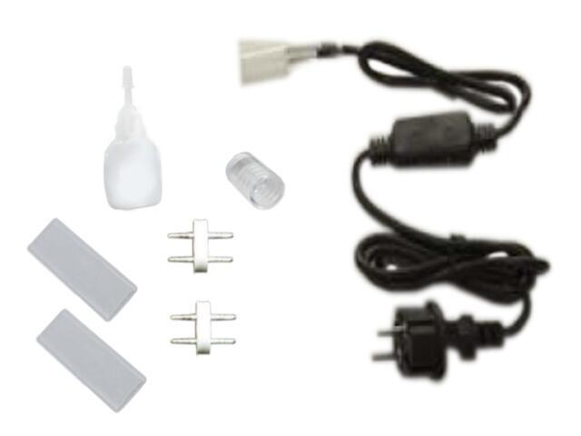 Zestaw z wtyczką EURO 230V do węża LED Mains Connector Set MK Ilumination