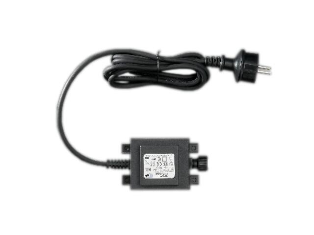 Przewód przyłączeniowy Schuko 230V z prostownikiem do łączenia LED 150cm czarny MK Ilumination