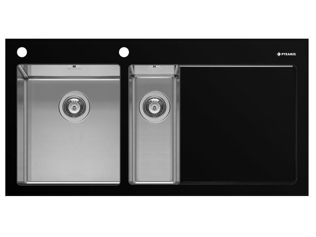 Zlewozmywak CRYSTALON 1000x520mm 1 1/2 B 1D czarny L 109502330 Pyramis