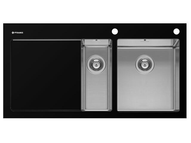 Zlewozmywak CRYSTALON 1000x520mm 1 1/2 B 1D czarny R 109502230 Pyramis