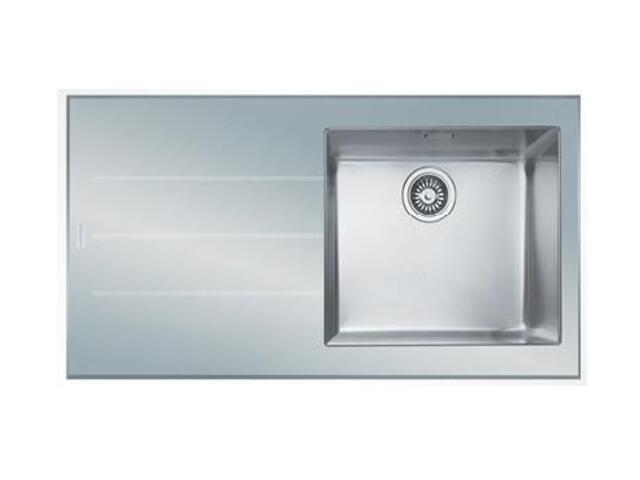 Zlewozmywak Crystal CYV 611 1000x510mm stalowy/biały komora z prawej 101.0062.563 Franke