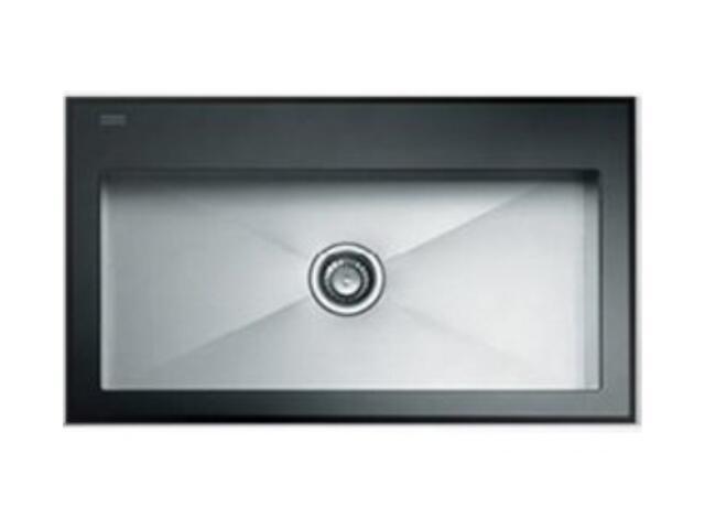 Zlewozmywak Crystal CYV 610 860x510mm stalowy/czarny 101.0062.564 Franke