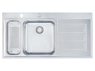 Zlewozmywak Epos EOX 661 1000x510mm jedwab komora z lewej 101.0168.550 Franke
