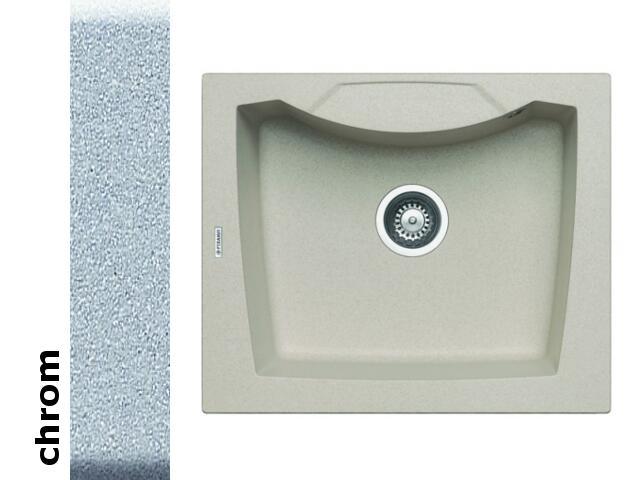 Zlewozmywak CALDERA 610x510mm 1B chrom 078000901 Pyramis