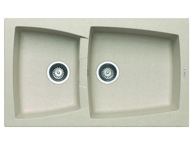 Zlewozmywak CALDERA 860x510mm 1 3/4B beżowy 078100301 Pyramis