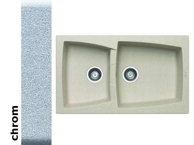 Zlewozmywak CALDERA 860x510mm 1 3/4B chrom 078100901 Pyramis