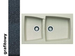 Zlewozmywak CALDERA 860x510mm 1 3/4B grafitowy 078101301 Pyramis