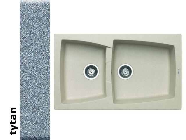 Zlewozmywak CALDERA 860x510mm 1 3/4B tytan 078101201 Pyramis