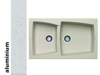 Zlewozmywak CALDERA 860x510mm 1 3/4B aluminium 078100801 Pyramis