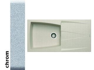 Zlewozmywak CALDERA 1000x500mm 1B1D chrom 078200901 Pyramis