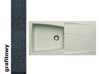 Zlewozmywak CALDERA 1000x500mm 1B1D grafitowy 078201301 Pyramis