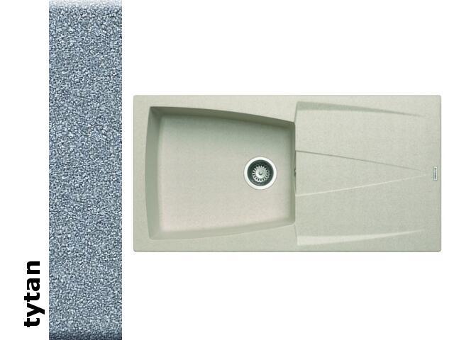 Zlewozmywak CALDERA 1000x500mm 1B1D tytan 078201201 Pyramis