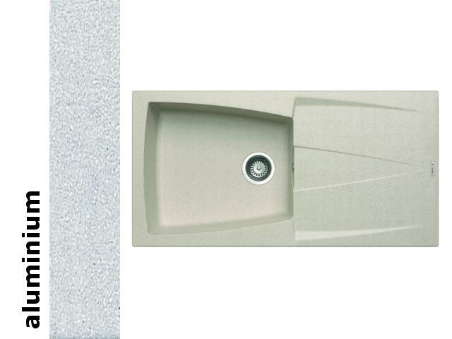 Zlewozmywak CALDERA 1000x500mm 1B1D aluminium 078200801 Pyramis