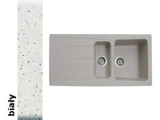 Zlewozmywak PETRA 1000x500mm 1 1/2B 1D biały 077600001 Pyramis