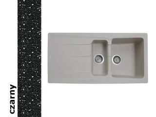 Zlewozmywak PETRA 1000x500mm 1 1/2B 1D czarny 077601001 Pyramis