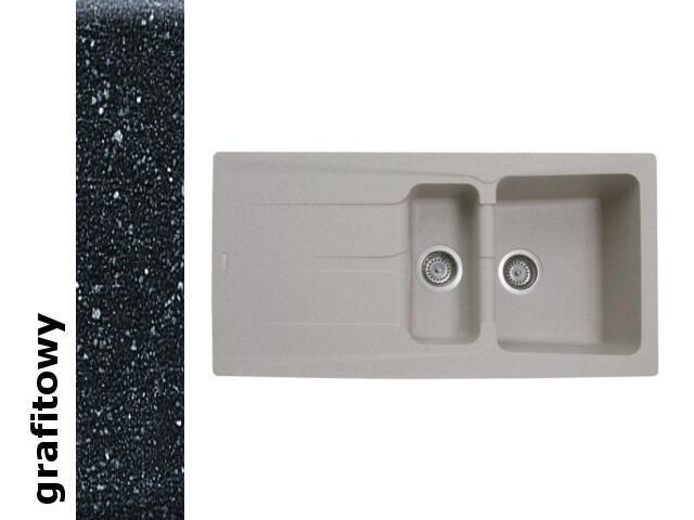 Zlewozmywak PETRA 1000x500mm 1 1/2B 1D grafitowy 077600101 Pyramis