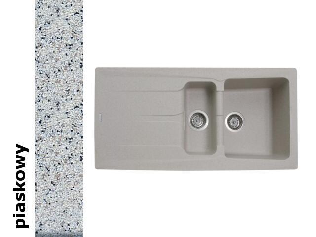 Zlewozmywak PETRA 1000x500mm 1 1/2B 1D piaskowy 077600701 Pyramis