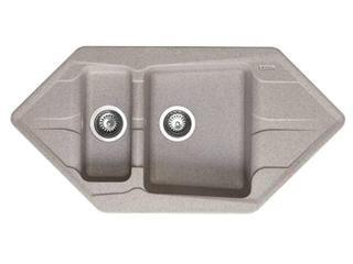 Zlewozmywak PETRA 1000x500mm 1 1/2B2D beżowy 077700301 Pyramis