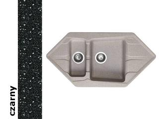 Zlewozmywak PETRA 1000x500mm 1 1/2B2D czarny 077701001 Pyramis