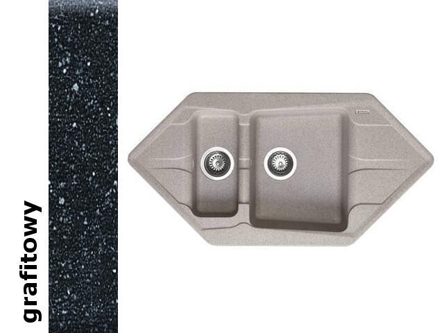 Zlewozmywak PETRA 1000x500mm 1 1/2B2D grafitowy 077700101 Pyramis