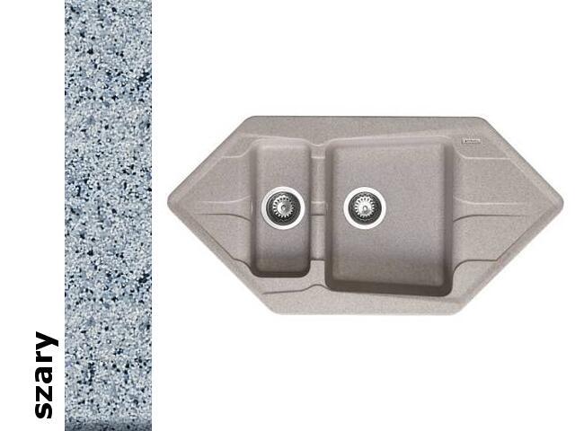 Zlewozmywak PETRA 1000x500mm 1 1/2B2D szary 077700601 Pyramis