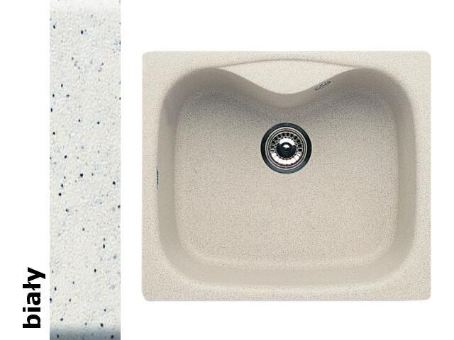 Zlewozmywak HYDRIA 580x500mm 1B1D biały 074000001 Pyramis