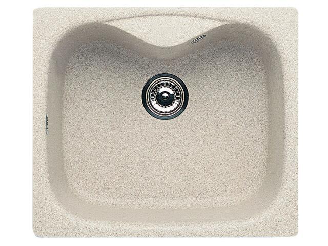 Zlewozmywak HYDRIA 580x500mm 1B1D beżowy 074000301 Pyramis
