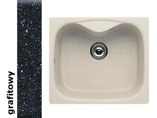 Zlewozmywak HYDRIA 580x500mm 1B1D grafitowy 074000101 Pyramis