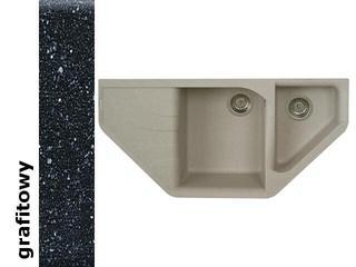 Zlewozmywak ATIVA 1000x500mm grafitowy 076800101 Pyramis