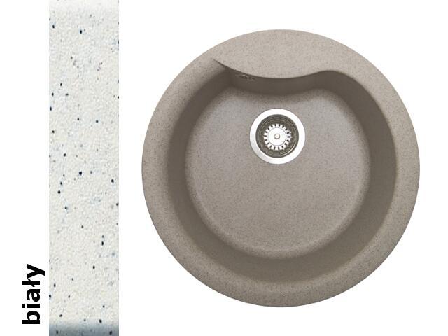 Zlewozmywak HYDRIA okrągły śred. 485mm 1B biały 073910001 Pyramis