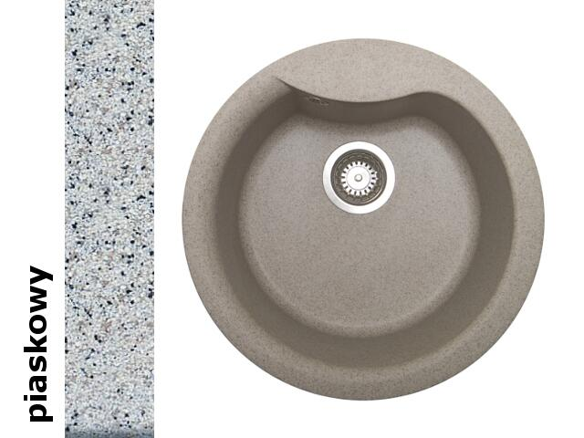 Zlewozmywak HYDRIA okrągły śred. 485mm 1B piaskowy 073910701 Pyramis