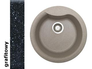 Zlewozmywak HYDRIA okrągły śred. 485mm 1B grafitowy 073910101 Pyramis