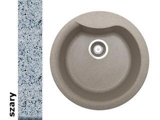 Zlewozmywak HYDRIA okrągły śred. 485mm 1B szary 073910601 Pyramis