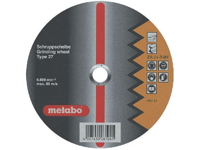 Tarcza ścierna Flexiamant super ZA 24-T 180x4x22,2mm do rur (wypukła) Metabo