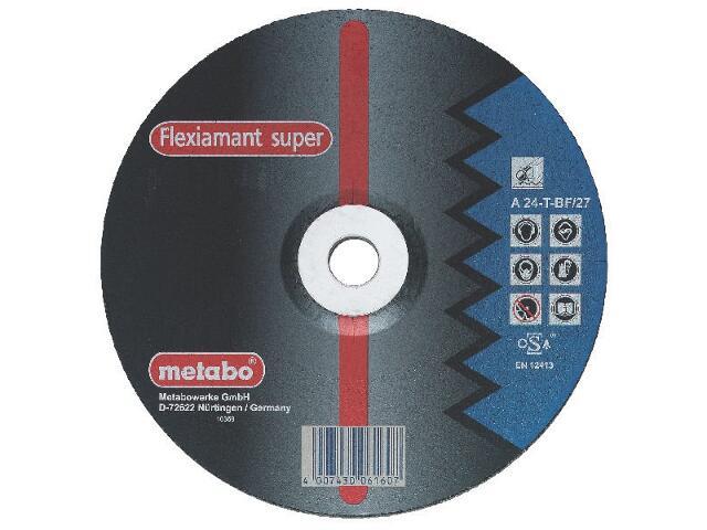 Tarcza ścierna Flexiamant super A 24-T 230x6x22,2mm do stali (wypukła) Metabo