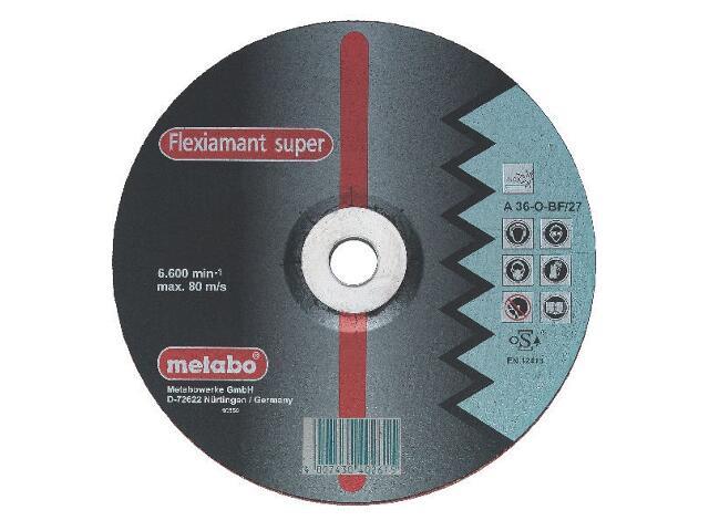 Tarcza ścierna Flexiamant super A 36-0 115x6x22,2mm do stali nierdz. Metabo