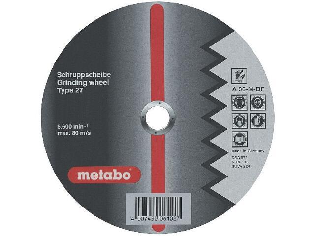 Tarcza ścierna Flexiamant super A 36-M 125x6x22,2mm do aluminium -wypukła Metabo