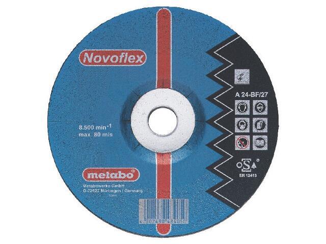 Tarcza ścierna Novoflex A 24-N 115x6x22,2mm do stali (wypukła) Metabo