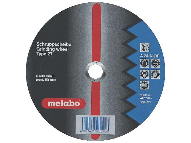 Tarcza ścierna Flexiamant A 24-N 115x6,8x22,2mm do stali (wypukła) Metabo