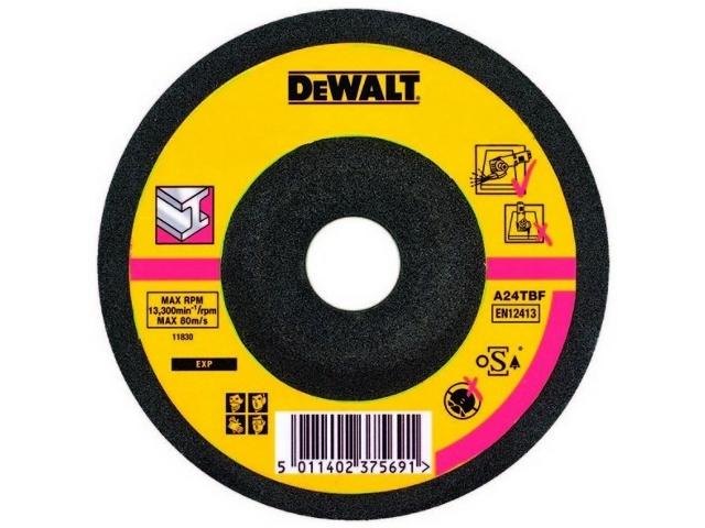 Tarcza ścierna do metalu 125x6mm wygięta DeWALT
