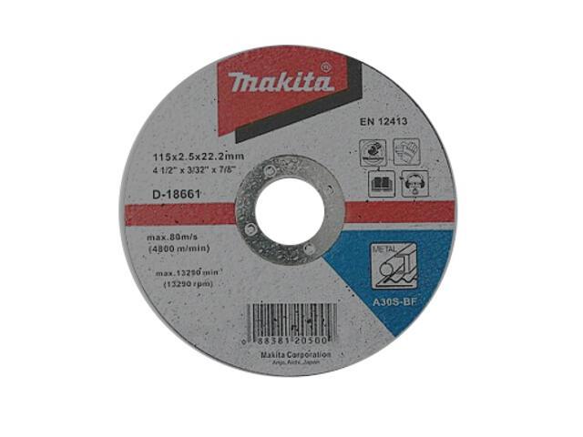 Tarcza tnąca 115x2,5x22,2mm do metalu D-18661 Makita