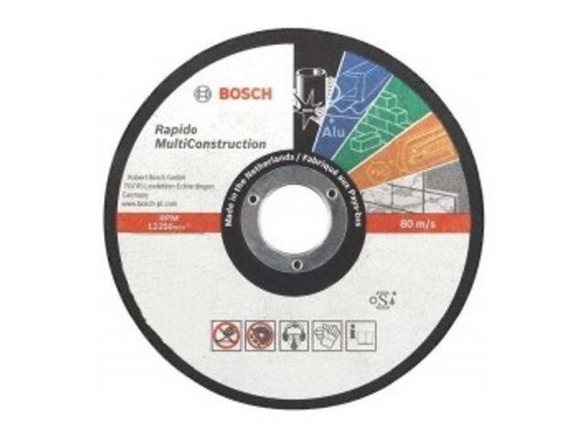 Tarcza tnąca Rapido Multi Construction 115x1,0mm, 2608602384 Bosch