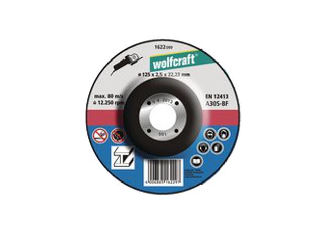 Tarcza tnąca 125x22,2x2,5 do metalu WF1622099 Wolfcraft
