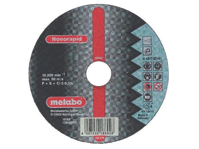 Tarcza tnąca Novorapid Inox 115x1mm do stali nierdzewnej Metabo