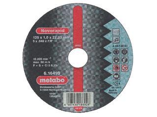 Tarcza tnąca Novorapid Inox 125x1mm do stali nierdzewnej Metabo