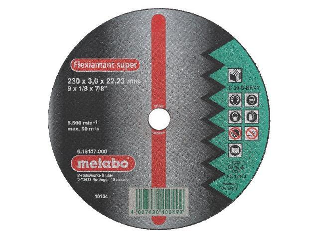 Tarcza tnąca Flexiamant super C 30-S 230x3x22,2mm do kamienia Metabo